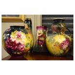 Royal Bonn five pieces of hand painted floral decorated wares, all having brown back stamp, the