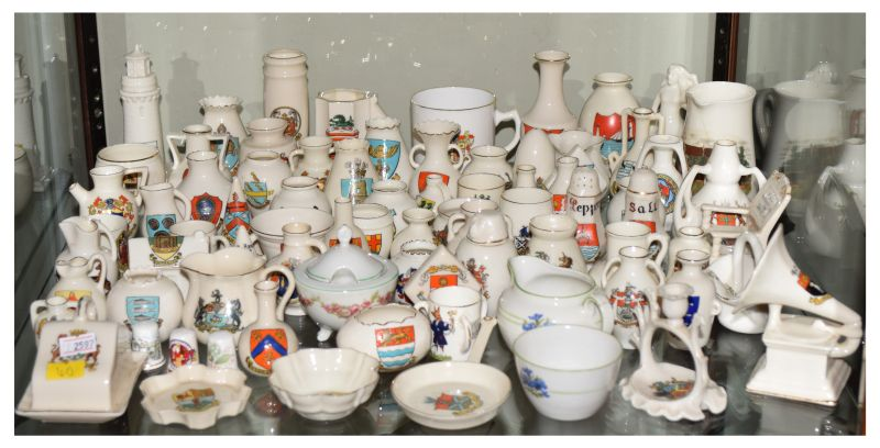 Large selection of crested ware