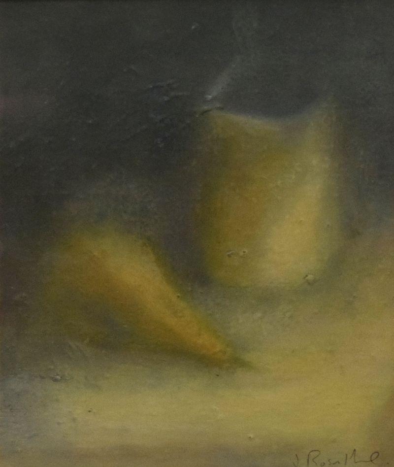 Judith Rosenthal - Gouache - Still life, jug and pear, monogrammed, 21.5cm x 16.5cm