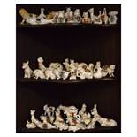Large quantity of crested china animals