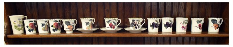Large quantity of Portmeirion Botanic Garden pattern tableware, together with RHS Queens bone