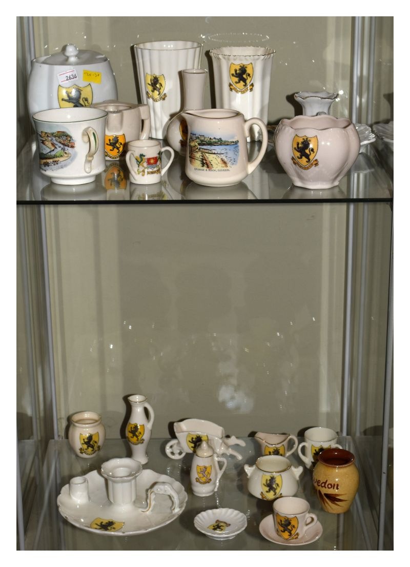 Local Interest - Good selection of crested wares with Civic Arms of Clevedon (approx 16 pieces),