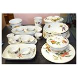 Quantity of Royal Worcester Evesham pattern oven-to-table ware