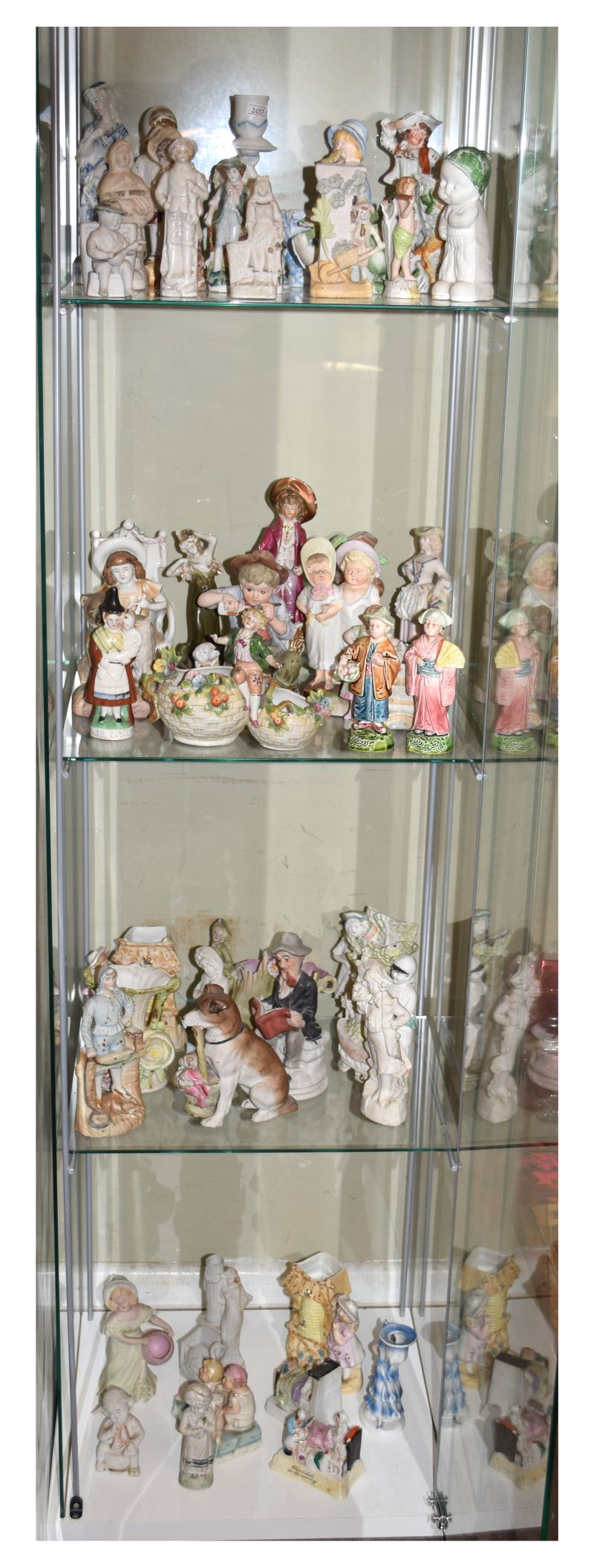 Quantity of mainly late 19th Century bisque porcelain figures