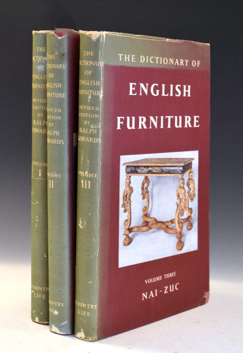 Lot 285 - Books - The Dictionary of English Furniture volumes 1-3 (Ralph Edwards, CBE, FSA)