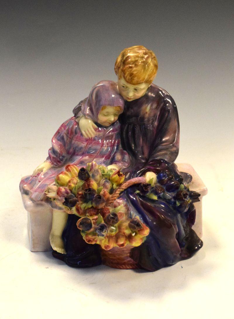 Royal Doulton figure group, 'The Flower Seller's Children', HN1206, 20cm high