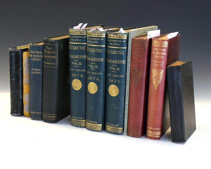 Lot 284 - Books - Group of books largely relating to Thomas Hardy's 'Far From The Madding Crowd', various