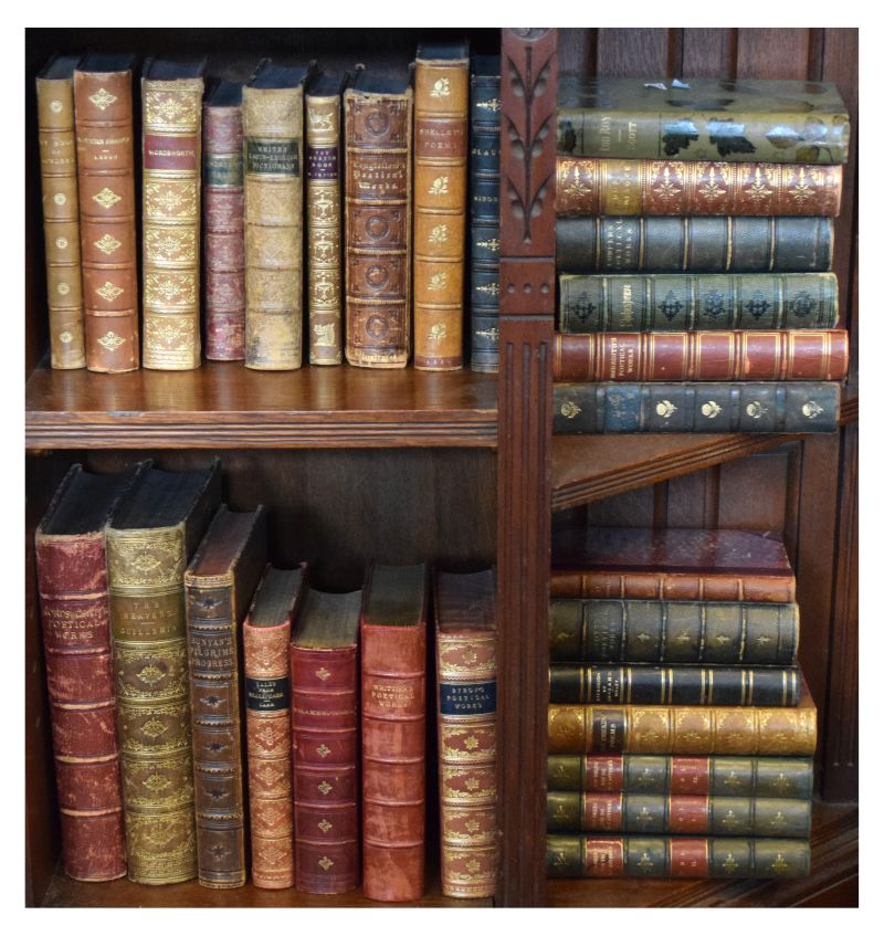 Lot 299 - Books - Group of approximately 29 19th Century leather bound books comprising: Smiths Latin-