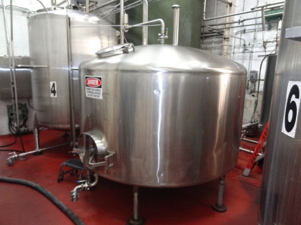 1500 Cherry Burrell Stainless Steel Side Agitated Mixing Tank, 8' Diameter X 4' Straightwall X 9' - Image 2 of 7