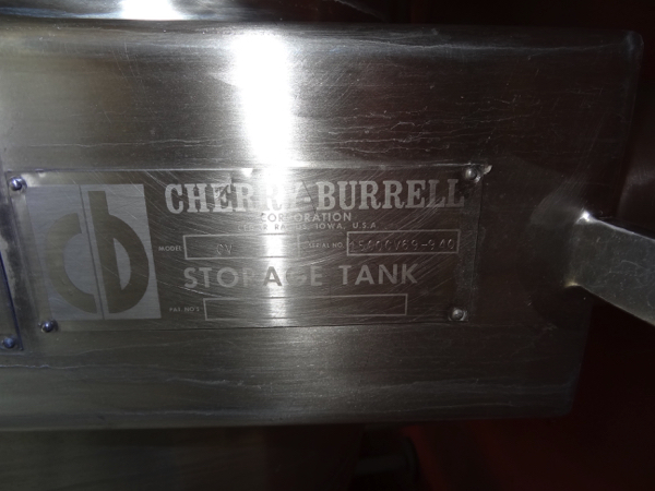 1500 Gallon Cherry Burrell Stainless Steel Top Agitated Mixing Tank, 6' Diameter X 7' Straightwall X - Image 3 of 11