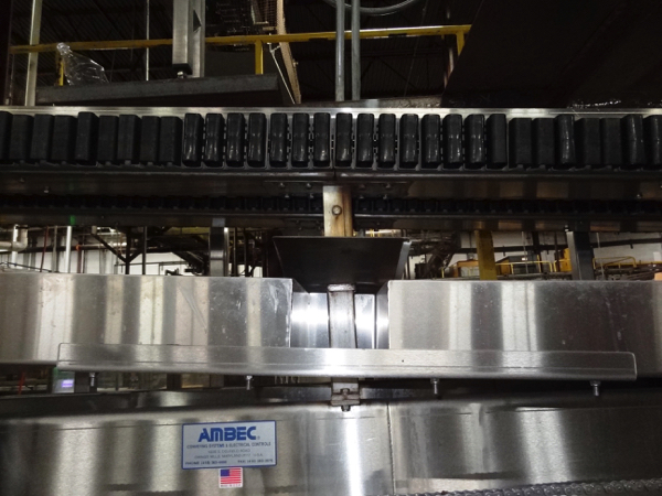 Lot 51 - Ambec Model L9500 Water Lowerator Gripper Rinser, 12' Infeed To 4' Discharge Elevation (Into Air