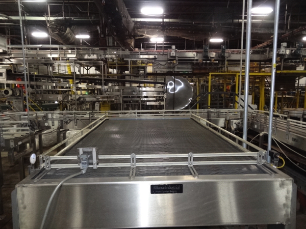 """Alliance Stainless Steel Accumulation Table, 5'-6"""" x 10', 60"""" Elevation, Intralox 400 Belting, - Image 2 of 5"""