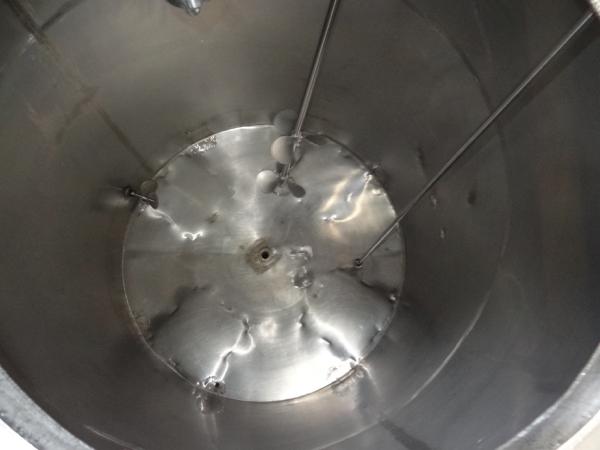 "1200 Gallon Sanitank Stainless Steel Top Agitated Mixing Tank, 5'-6"" Diameter X 7' Straightwall X - Image 4 of 5"