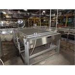 "Alliance Stainless Steel Accumulation Table, 5'-6"" x 10', 60"" Elevation, Intralox 400 Belting,"