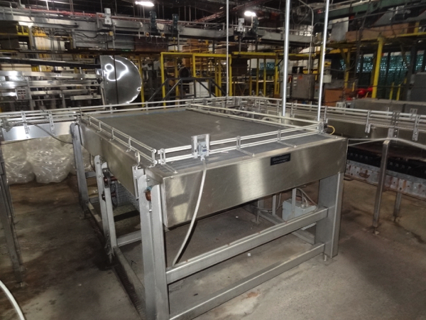 """Alliance Stainless Steel Accumulation Table, 5'-6"""" x 10', 60"""" Elevation, Intralox 400 Belting,"""