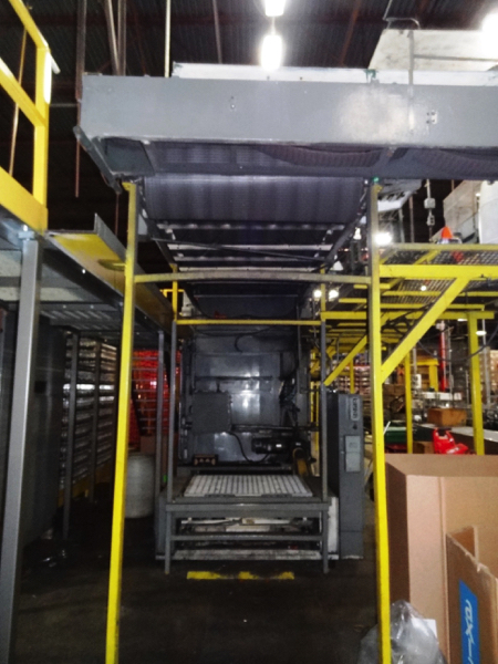 Seco Model 400-2D High Level Bulk Depalletizer, Z-Flow Narrow Side Leading with 30' Infeed Conveyor, - Image 8 of 11