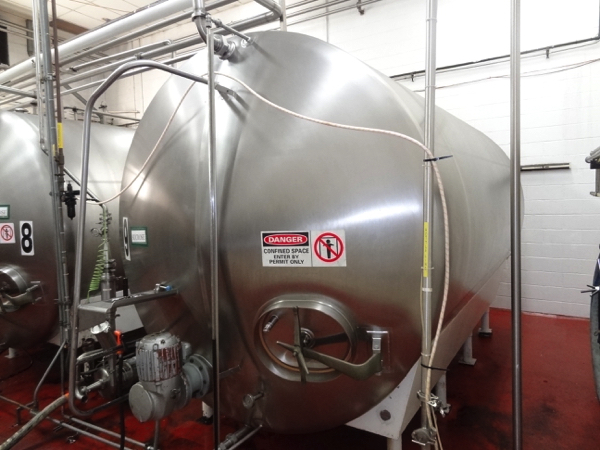 5000 Gallon Cherry Burrell Stainless Steel Horizontal Mixing Tank, 8' Diameter X 13' Straightwall - Image 4 of 4