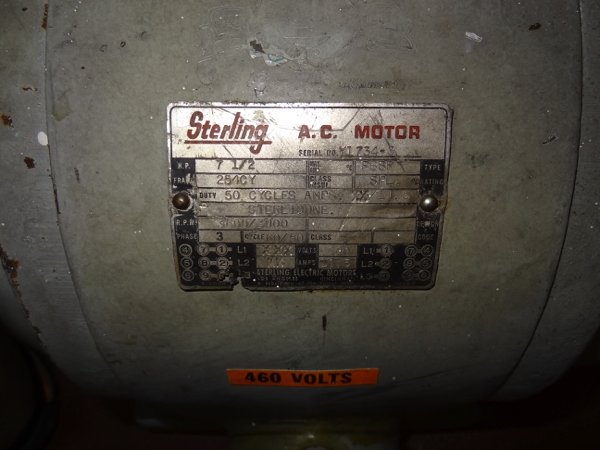 Cherry-Burrell Sanitary Centrifugal Pump Model VBH, 7 .5hp, 3600 rpm | Rigging Price: $50 - Image 3 of 3