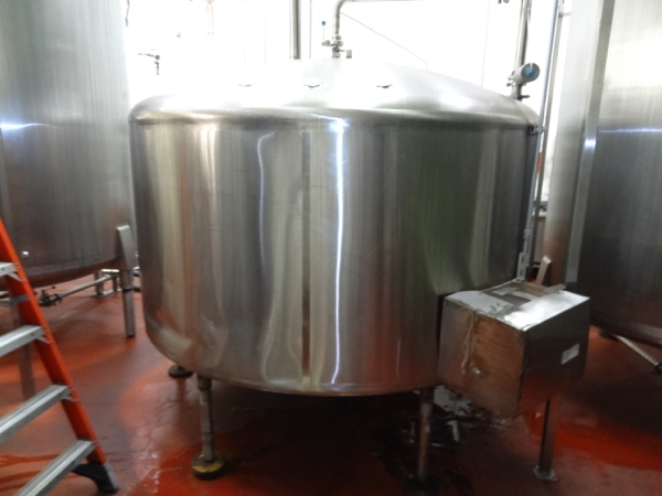 1500 Cherry Burrell Stainless Steel Side Agitated Mixing Tank, 8' Diameter X 4' Straightwall X 9' - Image 3 of 7
