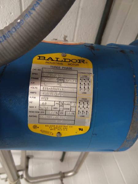 "1200 Gallon Sanitank Stainless Steel Top Agitated Mixing Tank, 5'-6"" Diameter X 7' Straightwall X - Image 3 of 5"