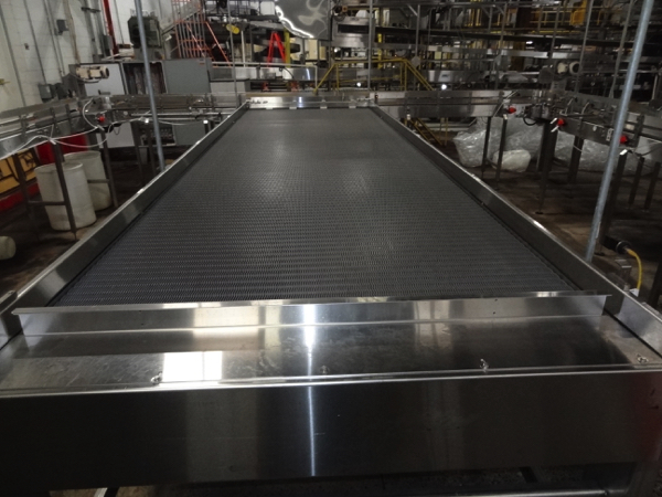 """Alliance Stainless Steel Accumulation Table, 6' x 21', 60"""" Elevation, Intralox 400 Belting, Clearing - Image 6 of 7"""