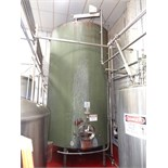 "5000 Gallon Cherry Burrell Stainless Steel Top Agitated Mixing Tank, 8'-6"" Diameter X 13'"