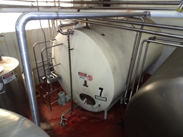 5000 Gallon Cherry Burrell Stainless Steel Horizontal Mixing Tank, 8' Diameter X 13' Straightwall