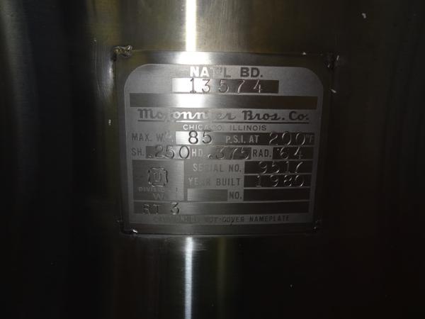 "Lot 48 - Mojonnier Model M72SRP 72-Plate Carbo-Cooler with ""M"" Flo-Mix, Mild Steel Tubular Base, Injector"
