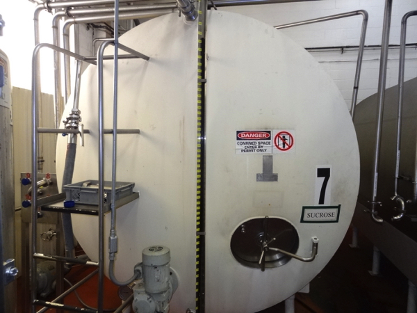 5000 Gallon Cherry Burrell Stainless Steel Horizontal Mixing Tank, 8' Diameter X 13' Straightwall - Image 2 of 6