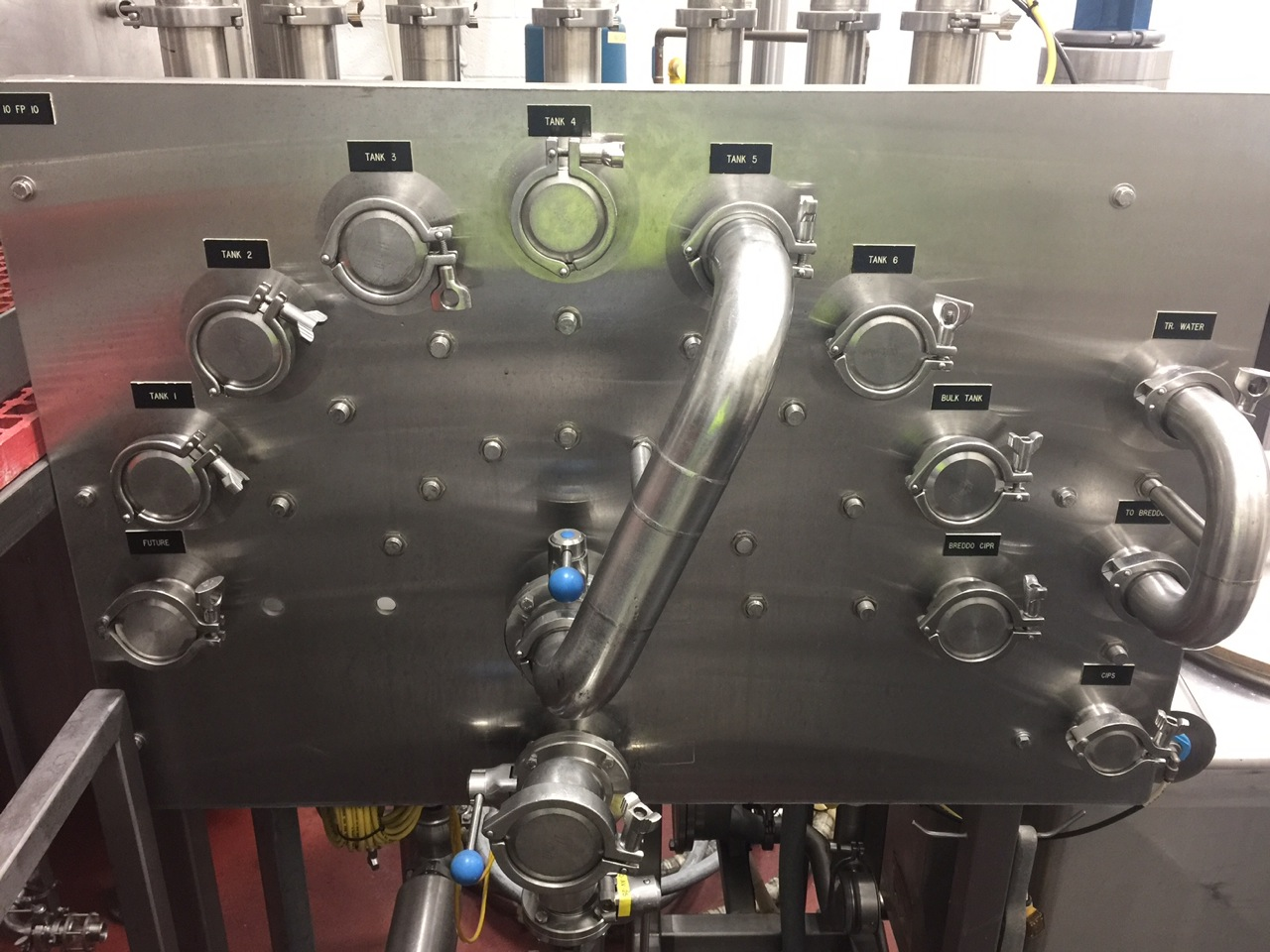 Stainless Steel CIP Manifold with GEA Valves | Rigging Price: $100