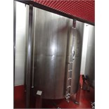 "1200 Gallon Sanitank Stainless Steel Top Agitated Mixing Tank, 5'-6"" Diameter X 7' Straightwall X"