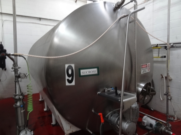 5000 Gallon Cherry Burrell Stainless Steel Horizontal Mixing Tank, 8' Diameter X 13' Straightwall - Image 3 of 4