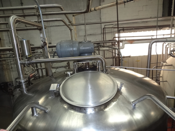 1500 Gallon Cherry Burrell Stainless Steel Top Agitated Mixing Tank, 6' Diameter X 7' Straightwall X - Image 9 of 11