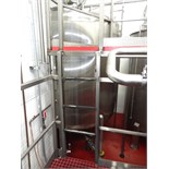 1700 Gallon Cherry Burrell Stainless Steel Top Agitated Mixing Tank, 7' Diameter X 6' Straightwall X