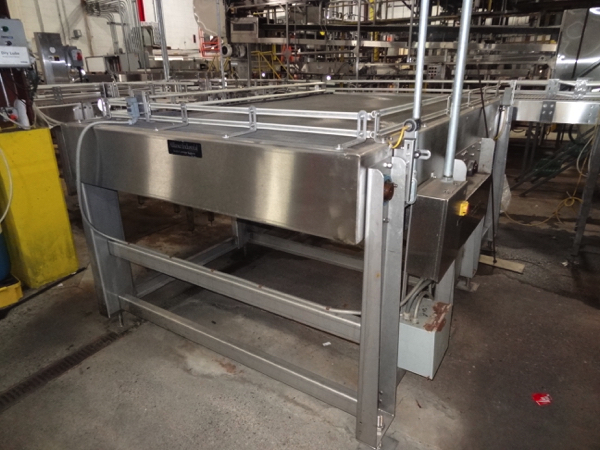"""Alliance Stainless Steel Accumulation Table, 5'-6"""" x 10', 60"""" Elevation, Intralox 400 Belting, - Image 3 of 5"""