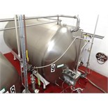 5000 Gallon Cherry Burrell Stainless Steel Horizontal Mixing Tank, 8' Diameter X 13' Straightwall