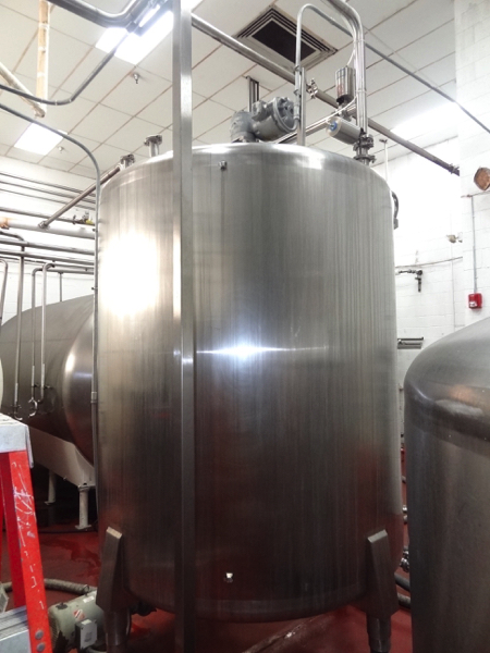 1500 Gallon Cherry Burrell Stainless Steel Top Agitated Mixing Tank, 6' Diameter X 7' Straightwall X - Image 8 of 11