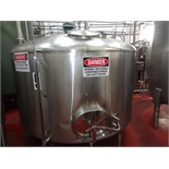 1500 Cherry Burrell Stainless Steel Side Agitated Mixing Tank, 8' Diameter X 4' Straightwall X 9'