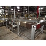"Alliance Stainless Steel Accumulation Table, 6' x 21', 60"" Elevation, Intralox 400 Belting, Clearing"