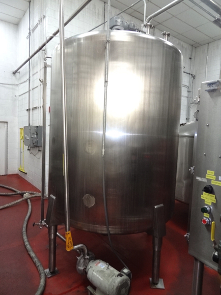 1500 Gallon Cherry Burrell Stainless Steel Top Agitated Mixing Tank, 6' Diameter X 7' Straightwall X - Image 7 of 11