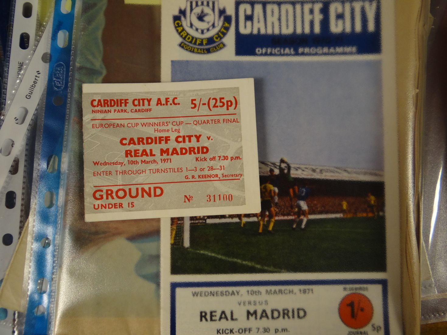 A cardiff city official programme ticket stub and newspaper for cardiff city v real madrid 1971 - Cardiff city ticket office number ...