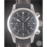 A GENTLEMAN'S STAINLESS STEEL FORTIS B-42 AUTOMATIC CHRONOGRAPH WRIST WATCH DATED 2008, REF. 656.