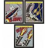 After Roy Lichtenstein (1932-1997) As i opened fire nach 1966 Offset-Lithographie Drei Poster