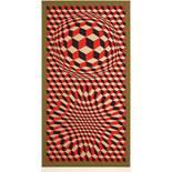 Vaserely Victor (1906-1997) VP-Cheyt 75 1975 Siebdruck handsigniert 117,5 x 64,5 cm
