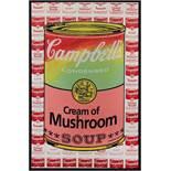 Kaufman Steve (1960-2010) Cream of Mushroom Soup Siebdruck und Öl auf Leinwand handsigniert und