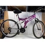 Purple Carina Universa 15 speed mountain bike
