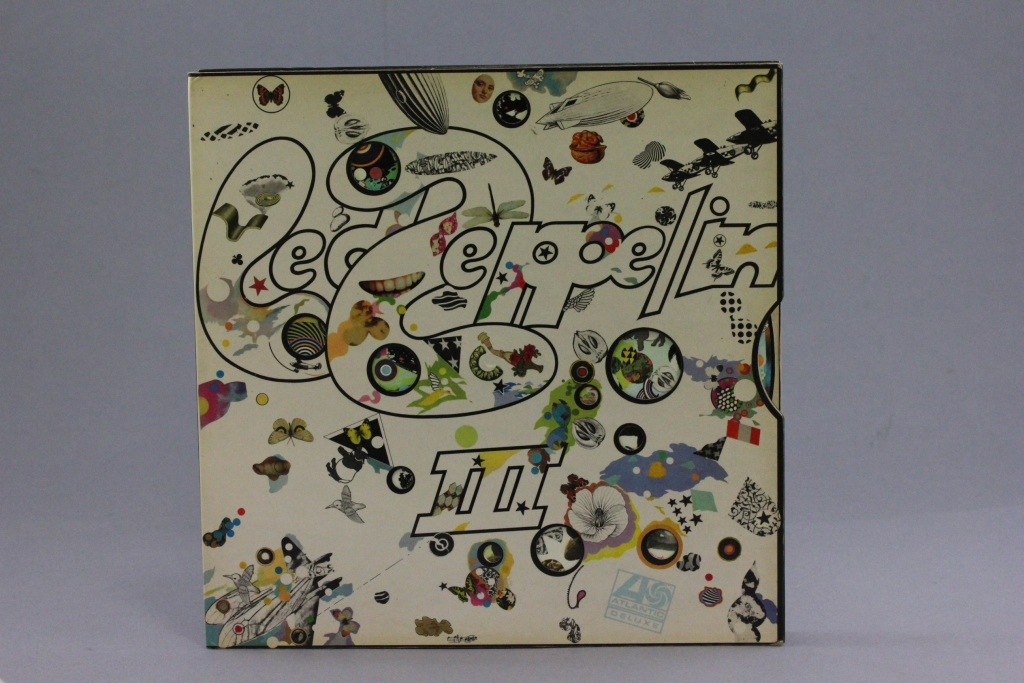 Lot 20 - Vinyl - Led Zeppelin III re/maroon label with no Peter Grant credit, catalogue no 2401-002 on