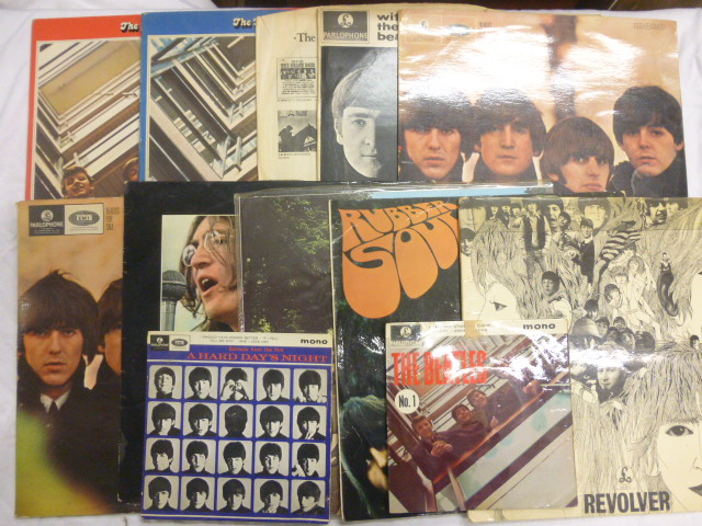 Lot 34 - Vinyl - 10 The Beatles lps and Eps to include Beatles for Sale x 2, Let It Be, Abbey Road, Rubber