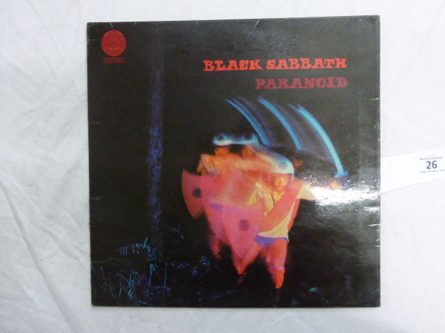 Lot 26 - Vinyl - Black Sabbath Paranoid (Vertigo 6360 011) laminated sleeve, vinyl has surface marks & is