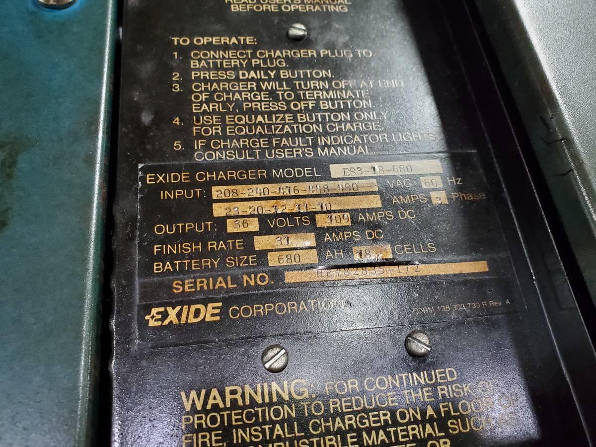 Lot 293 - Exide ES3-18-680 Forklift Battery Charger